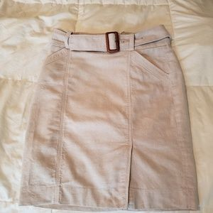 The Limited Khaki Pencil skirt